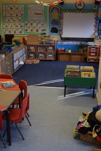 Squirrel class gets new flooring